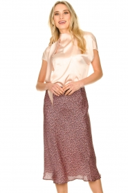 Set    Skirt with floral print Sweet   pink     Picture 2