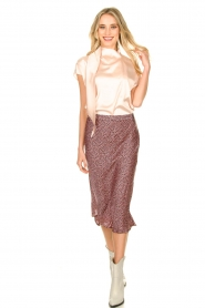 Set    Skirt with floral print Sweet   pink     Picture 3