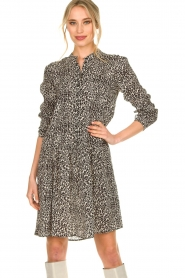 Set |  Dress with leopard print Tigra | black  | Picture 2