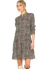 Set |  Dress with leopard print Tigra | black  | Picture 4