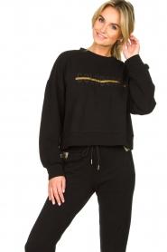 Goldbergh |  Sweatshirt with logo print Sonia | black  | Picture 2