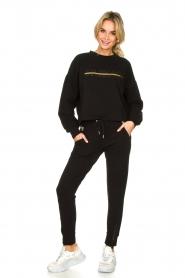 Goldbergh |  Sweatshirt with logo print Sonia | black  | Picture 3