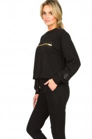 Goldbergh |  Sweatshirt with logo print Sonia | black  | Picture 4