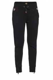 Goldbergh |  Sweatpants with fishnet details Ann | black  | Picture 1