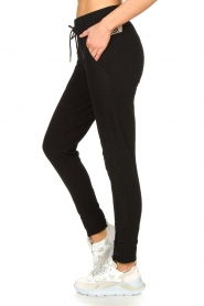 Goldbergh |  Sweatpants with fishnet details Ann | black  | Picture 5