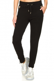 Goldbergh |  Sweatpants with fishnet details Ann | black  | Picture 4