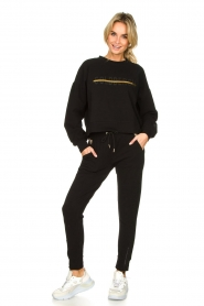 Goldbergh |  Sweatpants with fishnet details Ann | black  | Picture 2