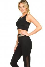 Goldbergh |  Sports top with brand logo Gabi | black  | Picture 4