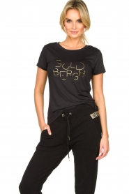 Goldbergh |  Sports top with logo print Michelle | black  | Picture 2
