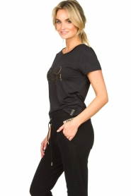Goldbergh |  Sports top with logo print Michelle | black  | Picture 4