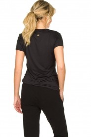 Goldbergh |  Sports top with logo print Michelle | black  | Picture 5