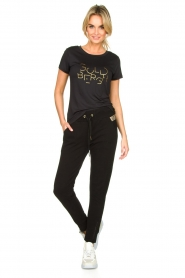 Goldbergh |  Sports top with logo print Michelle | black  | Picture 3