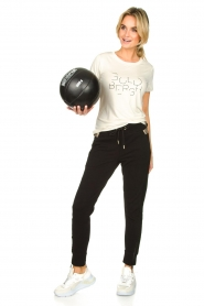 Goldbergh |  Sports top with logo print Michelle | off-white  | Picture 3