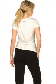 Goldbergh |  Sports top with logo print Michelle | off-white  | Picture 5