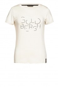 Goldbergh |  Sports top with logo print Michelle | off-white  | Picture 1