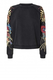 Lolly's Laundry |  Printed sweatshirt Tate | black  | Picture 1