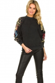 Lolly's Laundry |  Printed sweatshirt Tate | black  | Picture 6