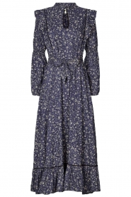 Lolly's Laundry |  Flower printed maxi dress Sanni | blue  | Picture 1
