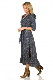 Lolly's Laundry |  Flower printed maxi dress Sanni | blue  | Picture 5