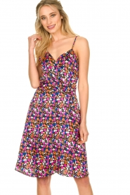 Silvian Heach |  Floral print dress Nisok | black  | Picture 4