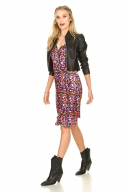 Silvian Heach |  Floral print dress Nisok | black  | Picture 3