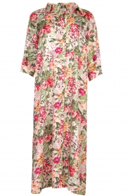 Silvian Heach |  Maxi dress with floral print Donski | pink  | Picture 1