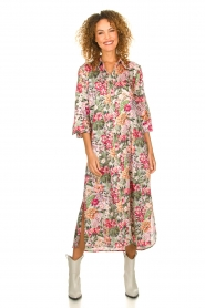 Silvian Heach |  Maxi dress with floral print Donski | pink  | Picture 2
