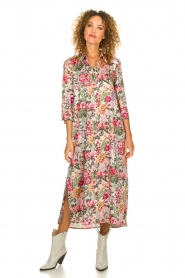 Silvian Heach |  Maxi dress with floral print Donski | pink  | Picture 4