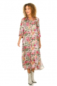 Silvian Heach |  Maxi dress with floral print Donski | pink  | Picture 3