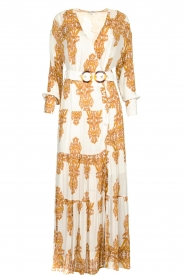 Silvian Heach |  Maxi dress with baroque print Campo | natural  | Picture 1