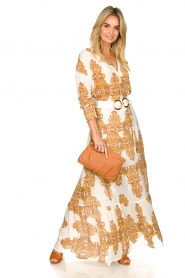 Silvian Heach |  Maxi dress with baroque print Campo | natural  | Picture 2