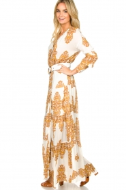 Silvian Heach |  Maxi dress with baroque print Campo | natural  | Picture 4