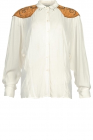 Silvian Heach |  Western blouse Doe | white  | Picture 1