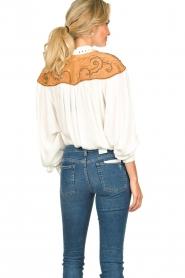 Silvian Heach |  Western blouse Doe | white  | Picture 6