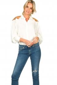 Silvian Heach |  Western blouse Doe | white  | Picture 2