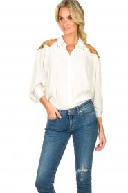 Silvian Heach |  Western blouse Doe | white  | Picture 4