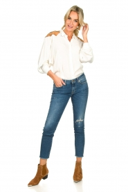 Silvian Heach |  Western blouse Doe | white  | Picture 3