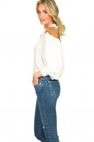 Silvian Heach |  Western blouse Doe | white  | Picture 5
