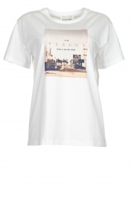 Silvian Heach |  T-shirt with print Woija | white  | Picture 1