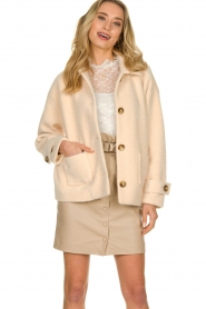 JC Sophie |  Short coat Cacao | pink  | Picture 4