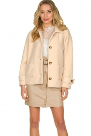 JC Sophie |  Short coat Cacao | pink  | Picture 2
