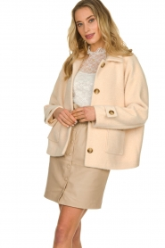 JC Sophie |  Short coat Cacao | pink  | Picture 5
