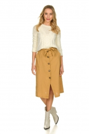 JC Sophie |  Paperbag skirt Cadiz | brown  | Picture 3