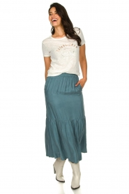 JC Sophie |  Midi skirt Callista | blue  | Picture 2