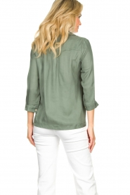JC Sophie |  Blouse with v-neck | green   | Picture 7