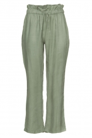 JC Sophie |  Trousers with drawstring Camden | green  | Picture 1