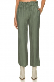 JC Sophie |  Trousers with drawstring Camden | green  | Picture 2