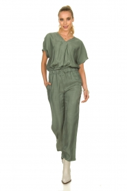 JC Sophie |  Trousers with drawstring Camden | green  | Picture 3
