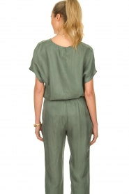 JC Sophie |  Blouse with v-neck Camellia | green  | Picture 5