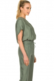 JC Sophie |  Blouse with v-neck Camellia | green  | Picture 4